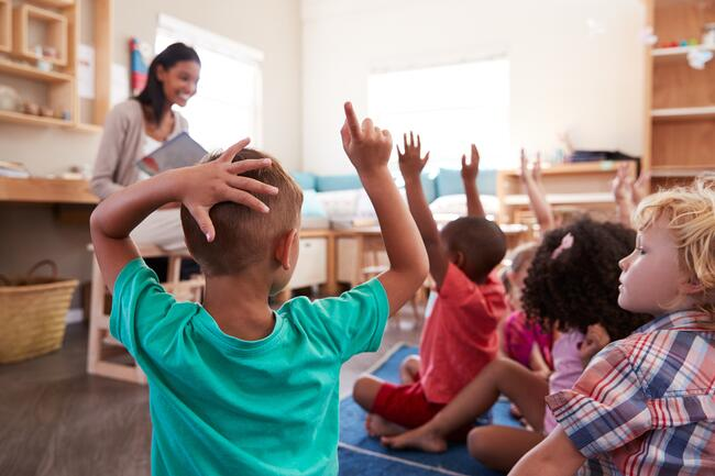 Typical Day For A Preschool Teacher In A Classroom